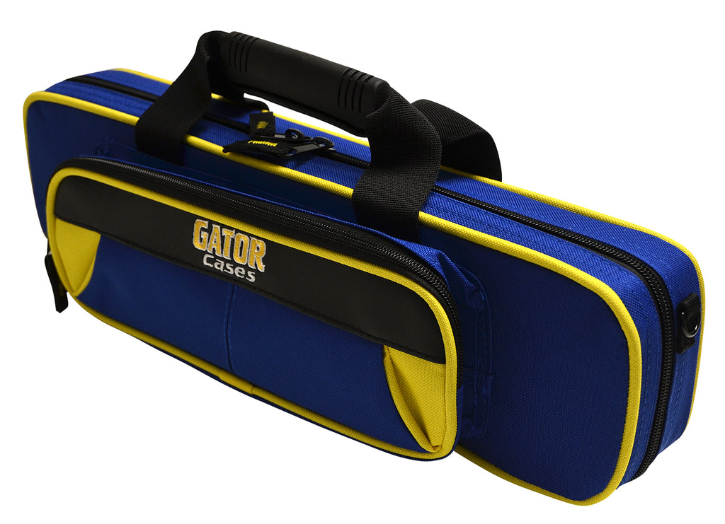 Gator GL-FLUTE-YB Spirit Series Lightweight Flute Case, Yellow And Blue