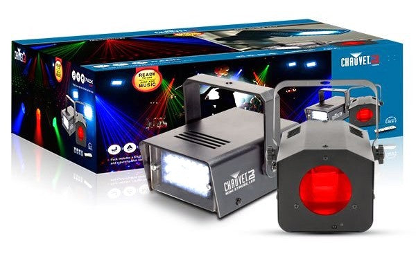 CHAUVET DJ JAM Pack Ruby RGB Moonflower / LED Strobe Pack W/ Remote
