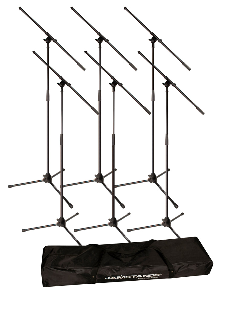 Jamstands JS-MCFB6PK 6-Pack Tripod Mic Stand & Carry Bag