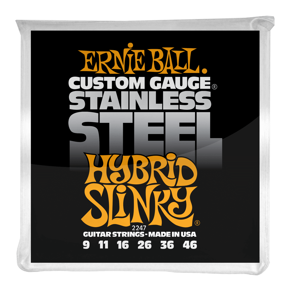 Ernie Ball Hybrid Slinky Stainless Steel Wound Electric Guitar Strings .09-.46
