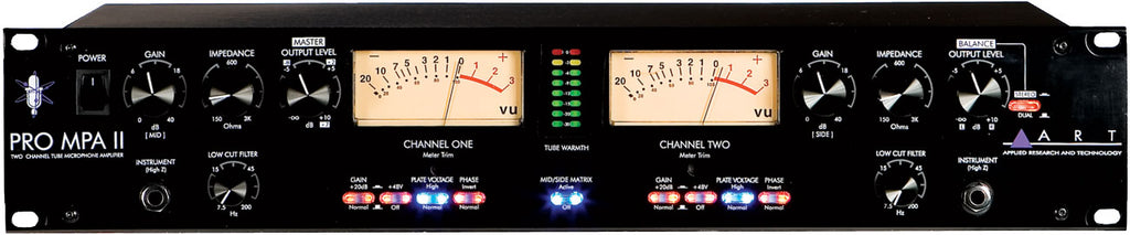 ART Pro MPA-II Two Channel Microphone Preamp