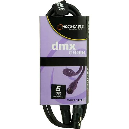 Accu-Cable AC5PDMX5 5 Pin DMX Cable - 5 Feet