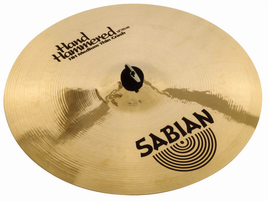 "Sabian 18"" HH Medium-Thin Crash Cymbal Brilliant Finish"