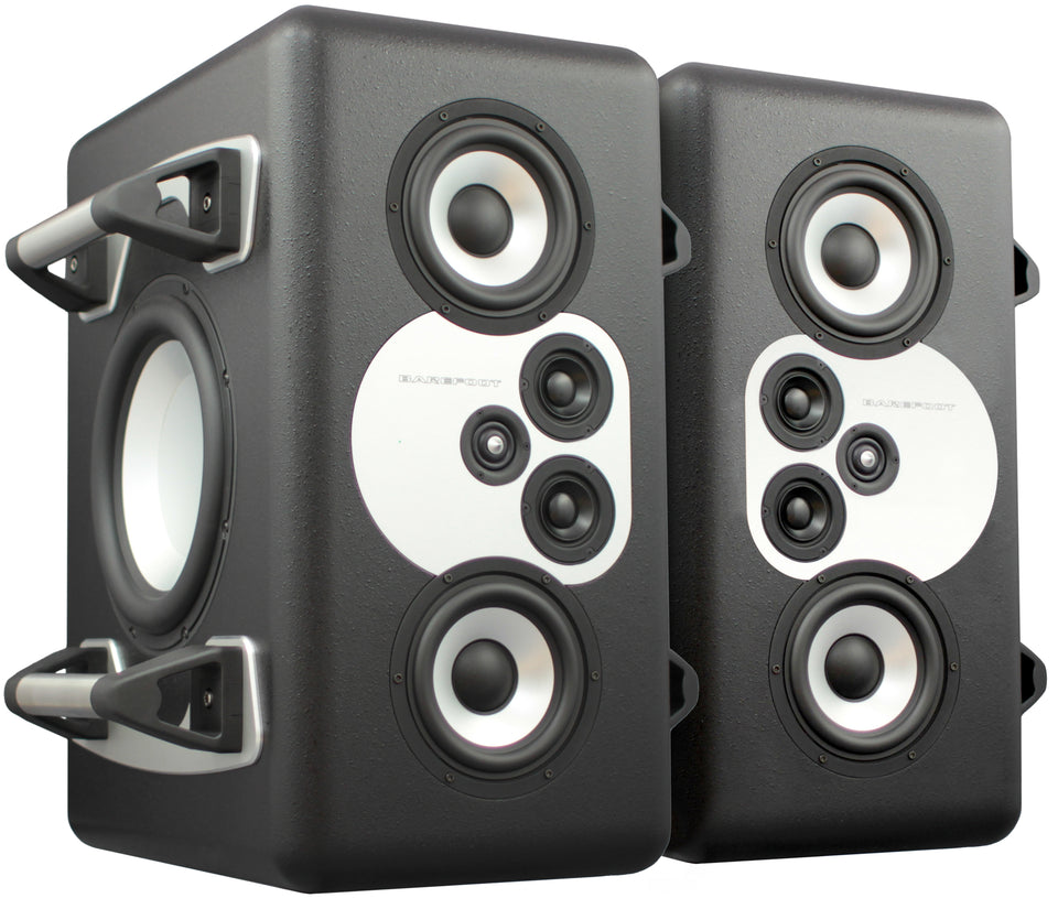 Barefoot Sound MiniMain 12 4 Way Active Studio Monitors - Pair With Handles
