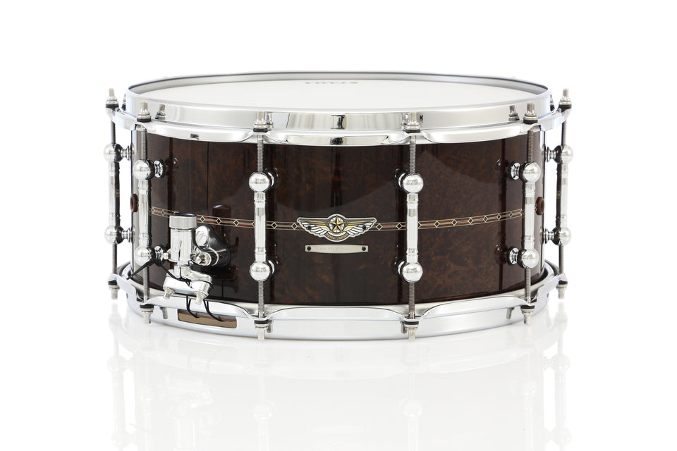 "Tama 14"" x 6.5"" STAR Reserve Bubinga/Walnut Snare Drum - Gloss Claro Walnut"