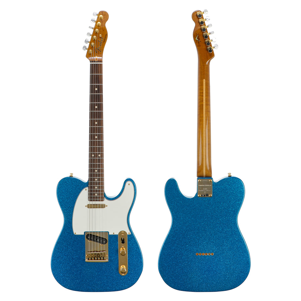 Fender Custom Shop Limited Edition Super Custom Telecaster Deluxe - Blue Sparkle