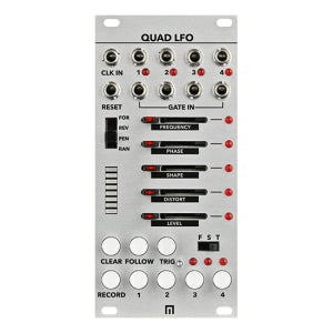 Malekko Quad LFO Generator w/ 16-Step Sequencer Module