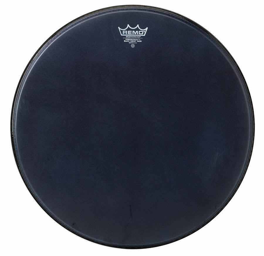 "Remo 24"" Black Suede Powerstroke 3 Bass Drum Head"