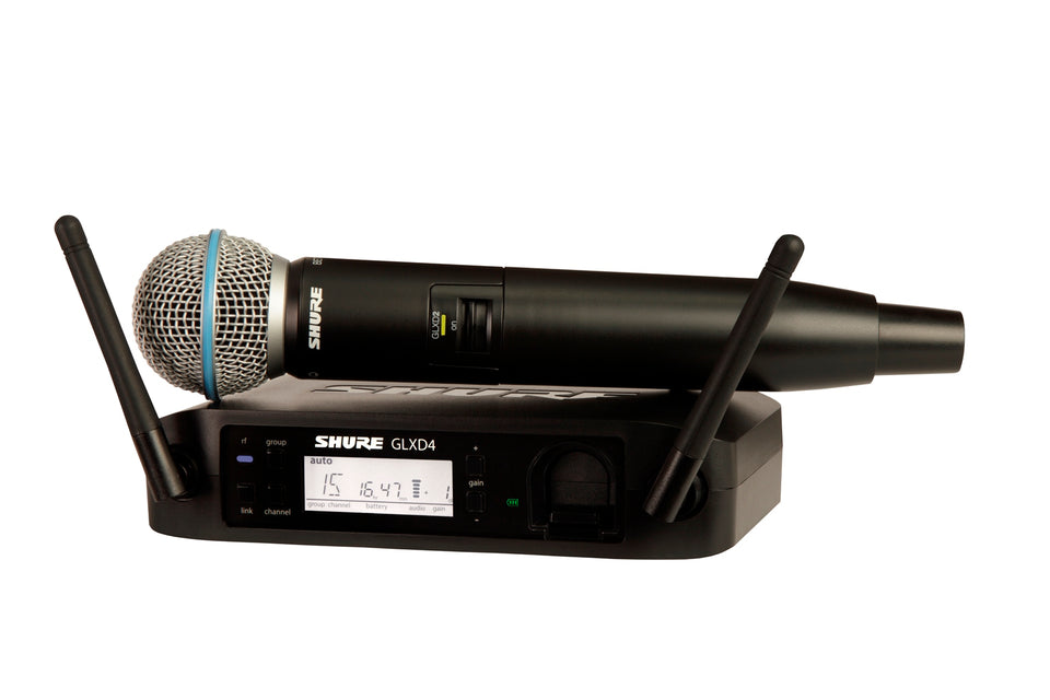 Shure GLXD24 Digital 2.4GHz Handheld Wireless System W/ Beta 58A Microphone