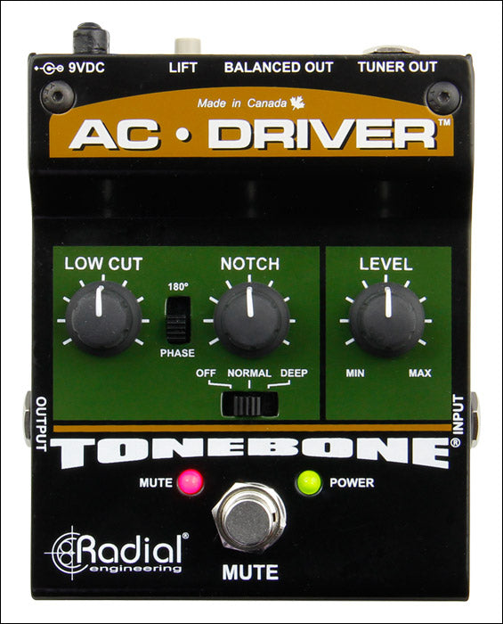 Radial AC-Driver Acoustic Instrument Preamp