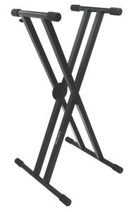 On-Stage Stands KS7291 Professional Heavy-Duty Double-X ERGO-LOK Keyboard Stand