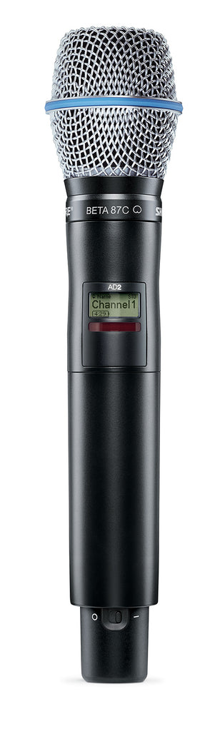 Shure AD2/B87C Axient Digital Handheld Transmitter W/ Beta87C Cartridge
