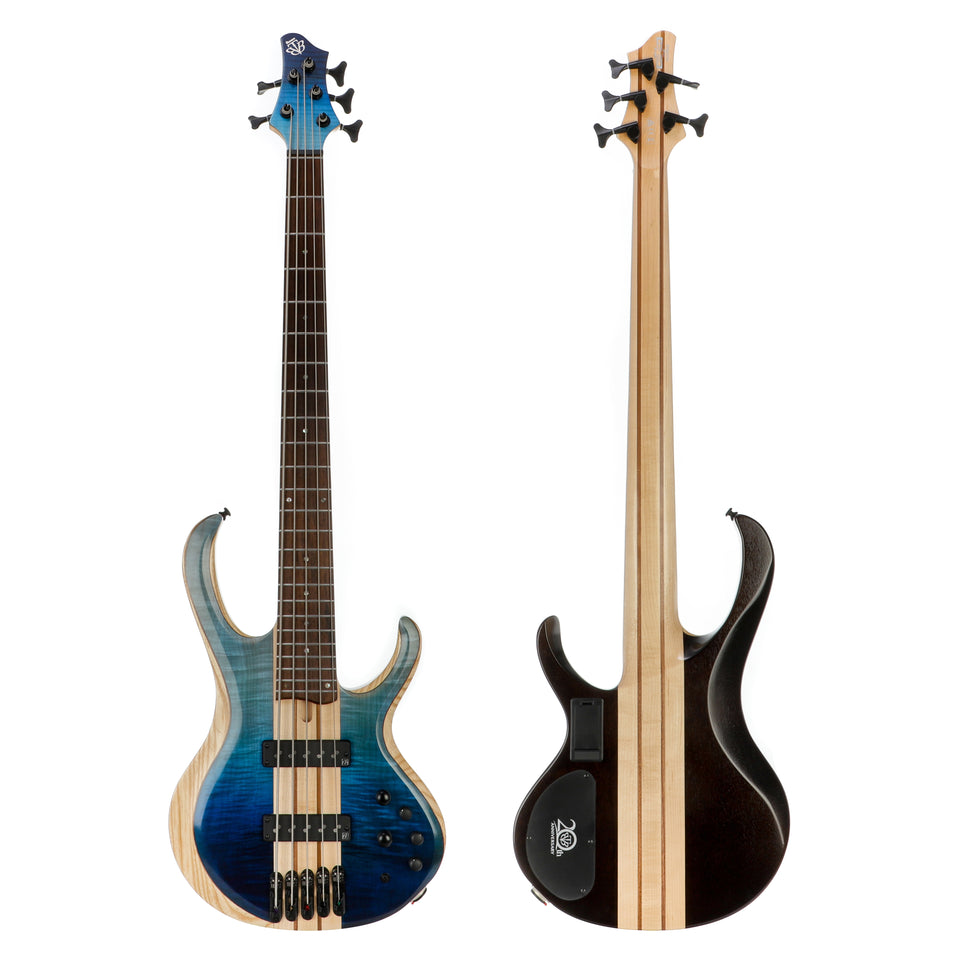 Ibanez Limited Edition BTB20TH5 20th Anniversary 5 String Electric Bass - Blue Reef Gradation Low Gloss