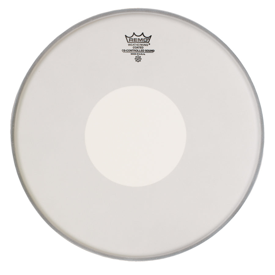 "Remo 12"" Coated Controlled Sound Drum Head With White Dot"