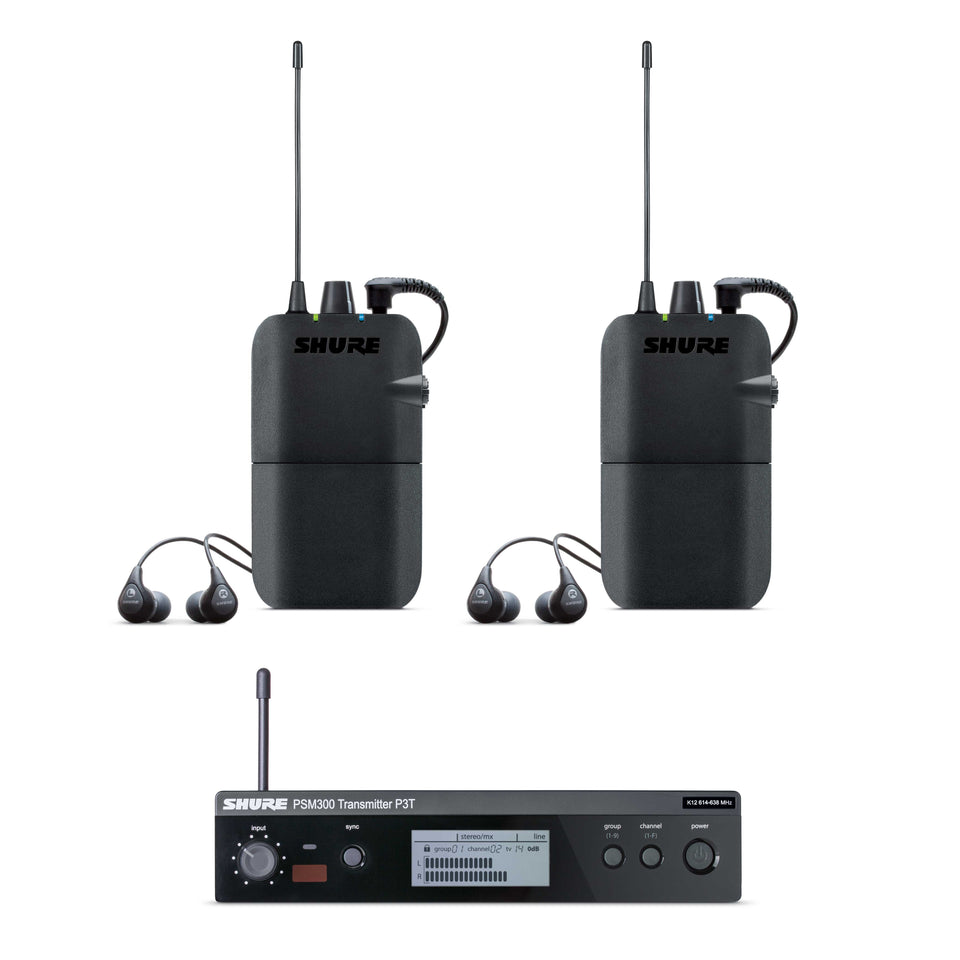 Shure PSM300 Twin Pack In Ear Monitor System