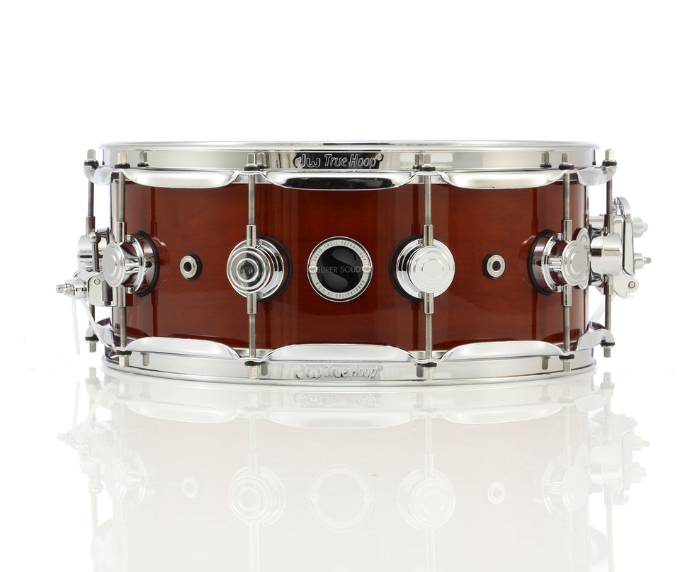 "Drum Workshop 14"" x 5.5"" Collector's Series Super Solid Snare Drum - Tobacco Lacquer With Chrome Hardware"