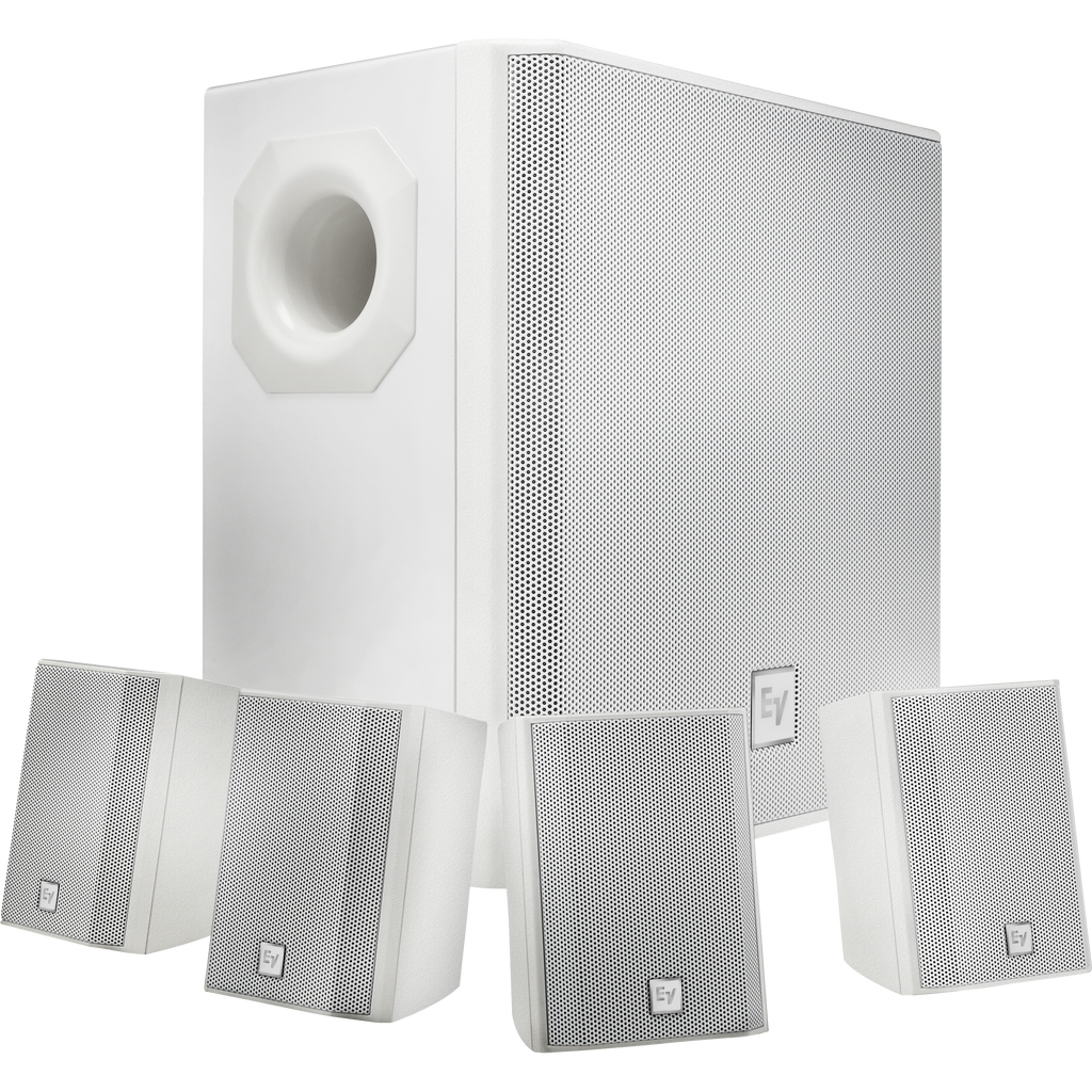 Electro-Voice EVID-S44 Wall Mount Speaker System Package - White