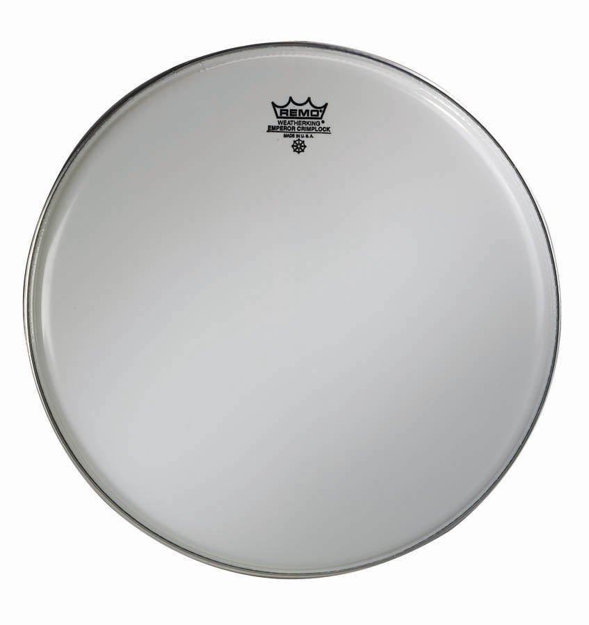 Remo Smooth White Crimplock Emperor Marching Drum Head