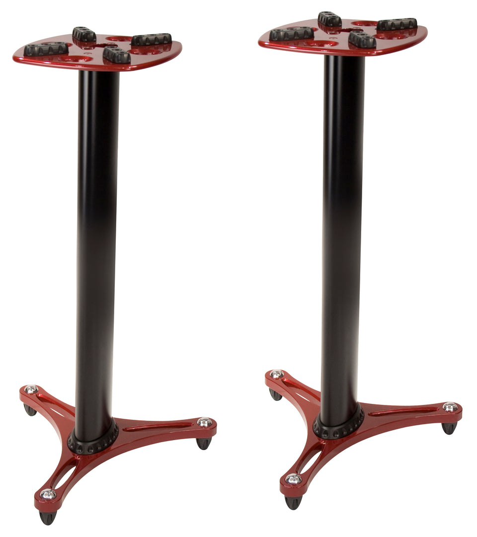 Ultimate Support MS90/36R Studio Monitor Stands- Pair - Red And Black