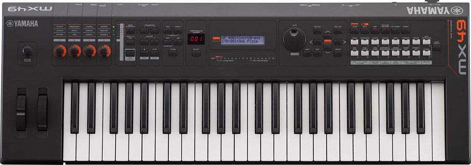 Yamaha MX49BK 49-Key Synthesizer Keyboard - Black