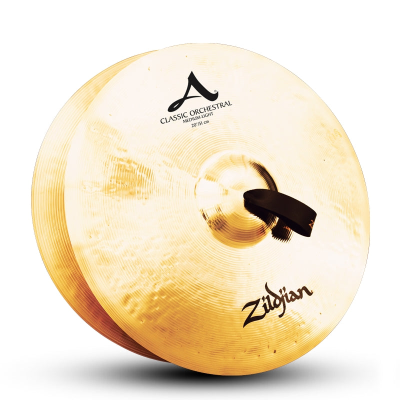 "Zildjian 20"" A Classic Orchestral Selection Medium Light Cymbals - Pair"