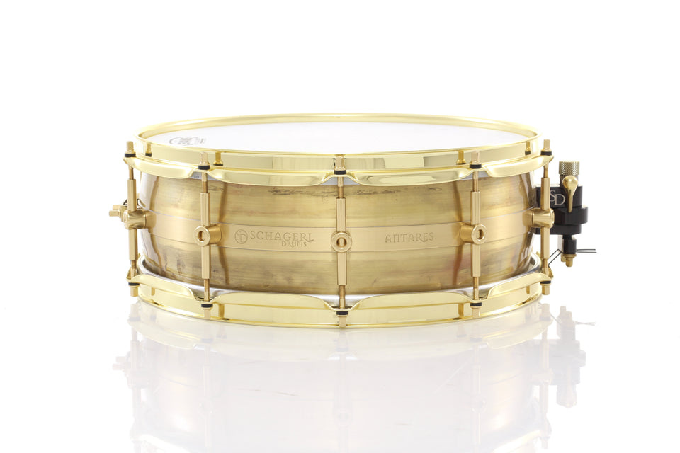 "Schagerl 14"" x 5"" Antares Snare Drum - Raw Lacquered"