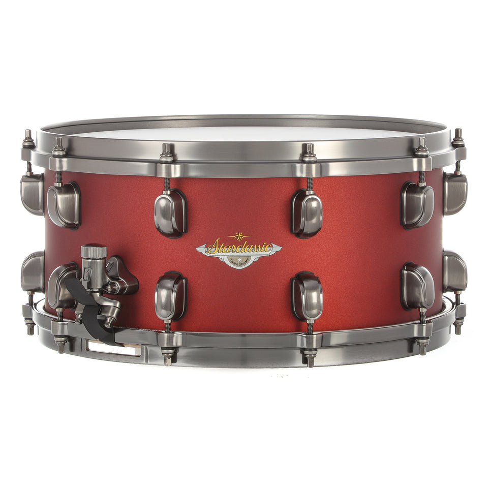 "Tama 14""x6.5"" Starclassic Maple Snare Drum - Flat Burgundy Metallic w/ Smoked Black Nickel"