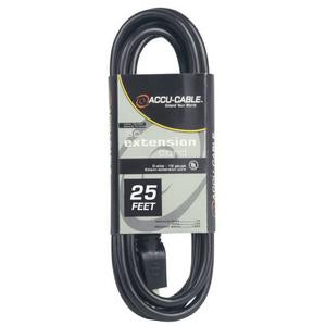 Accu-Cable EC123-25 12/3 Gauge Edison Extension Power Cable - 25 Feet