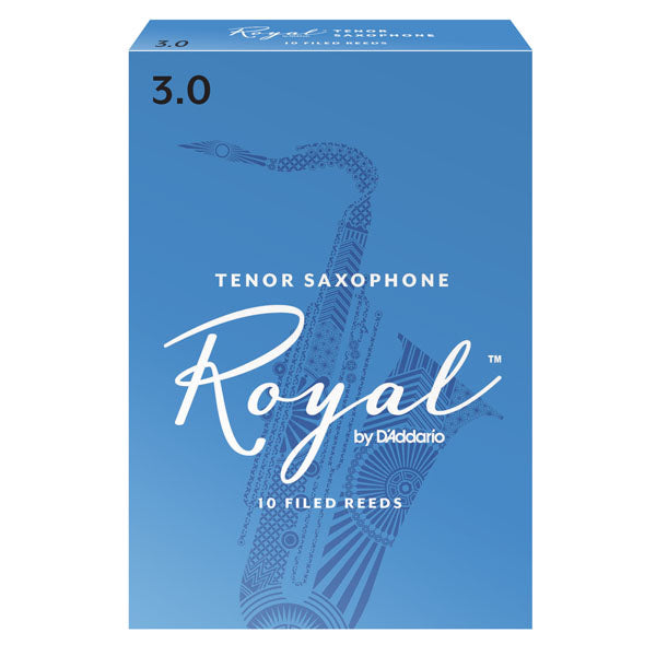 D'Addario RKB1010 Rico Royal Tenor Sax Reeds, Strength 1.0, 10-Pack