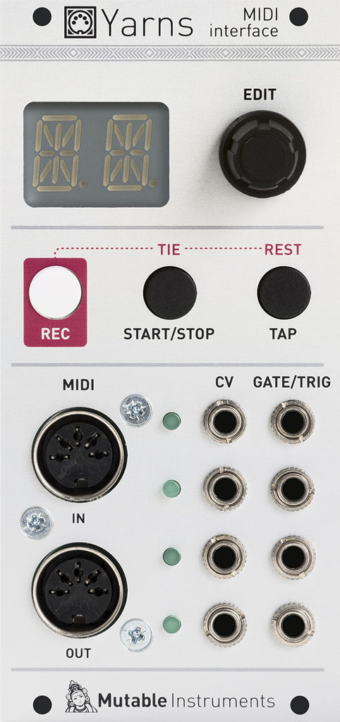 Mutable Instruments Yarns 4 Channel MIDI Interface Eurorack Module