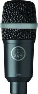 AKG D40 Live Dynamic Instrument Microphone With Drum Mount Clip