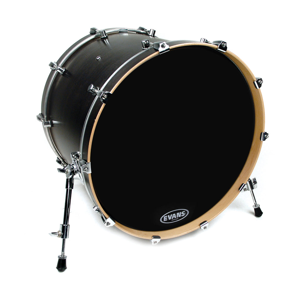 "Evans 24"" EQ3 Resonant Black Bass Drum Head No Port"