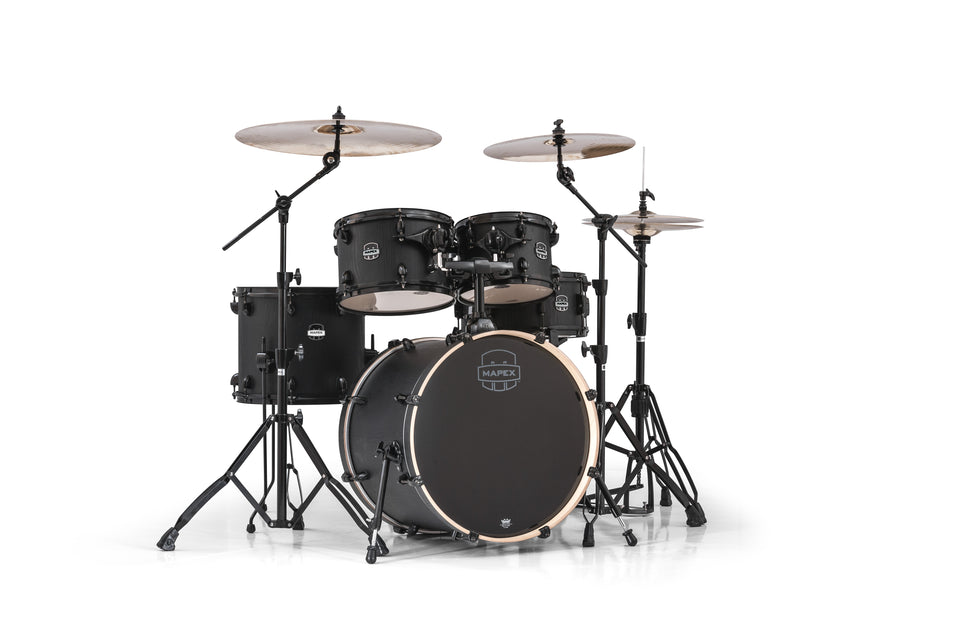 Mapex Mars Series 5-Piece Fusion Shell Pack Nightwood With Black Hardware