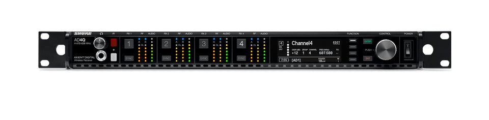 Shure AD4Q Axient Digital Four Channel Receiver