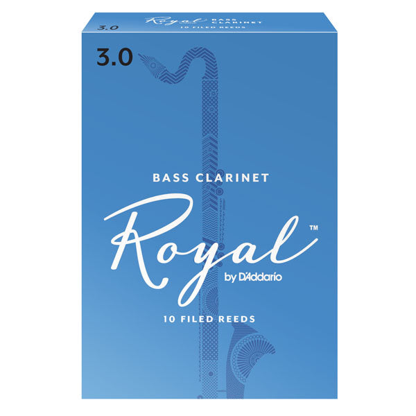 D'Addario REB1035 Royal Bass Clarinet Reeds, Strength 3.5, 10-Pack