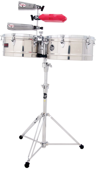 "LP LP256-S Tito Puente 13"" And 14"" Timbales, Stainless Steel"