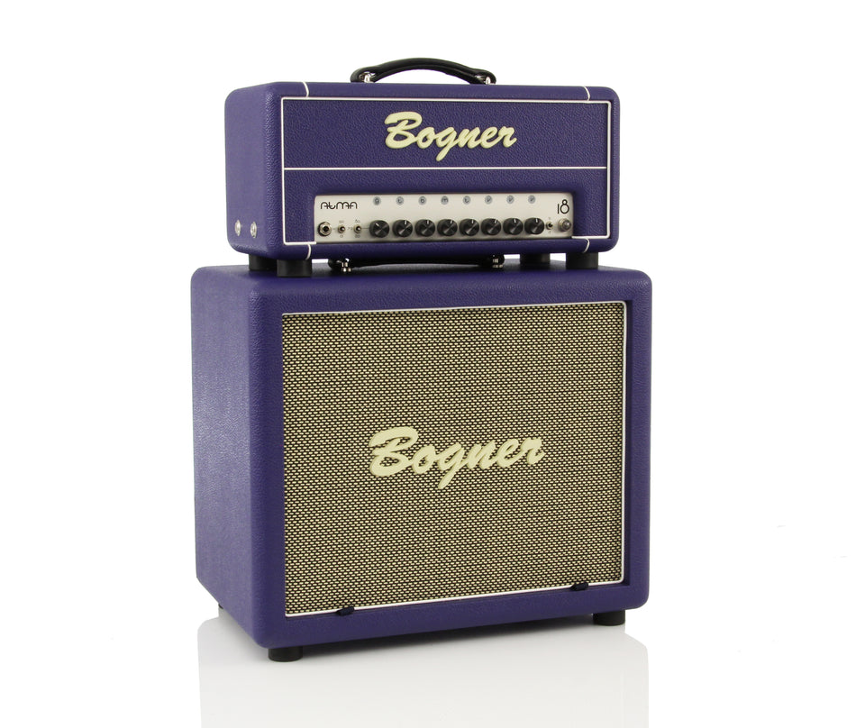 Bogner Custom Purple Guitar Amplifier Stack - 18W Atma Helios Style Head & 112CP Closed Back 1x12 Cabinet