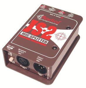 Radial Engineering JS2 Passive Microphone Splitter (2-Way)