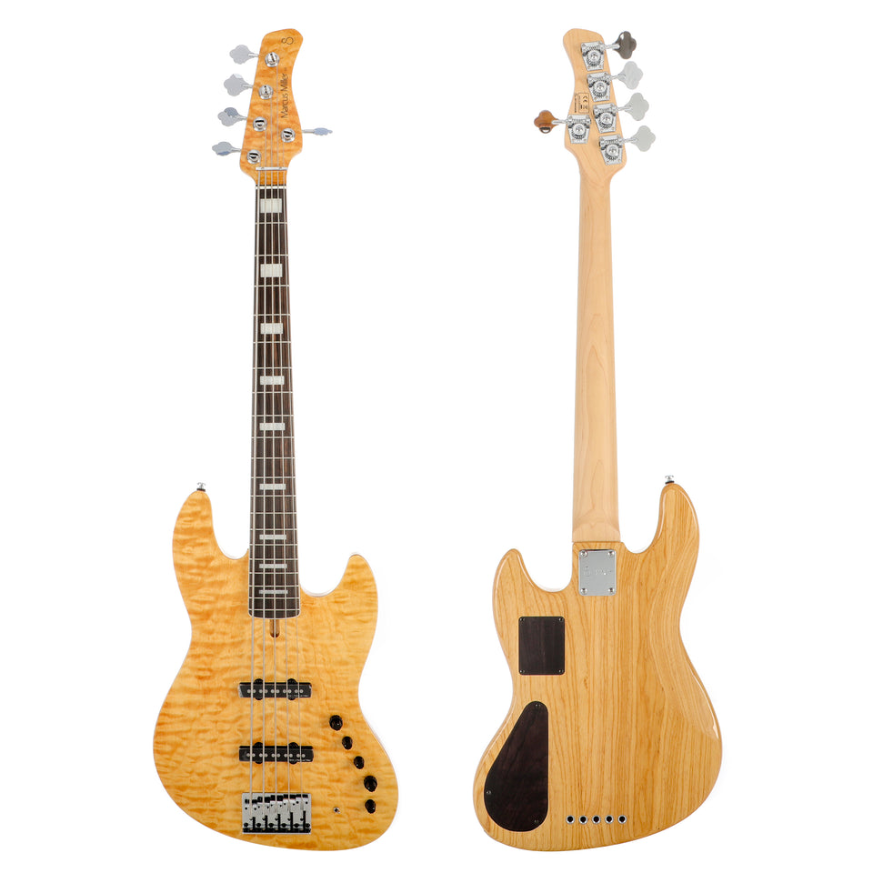 Sire Marcus Miller V9 Swamp Ash 5 (2nd Gen) Electric Bass Guitar - Natural