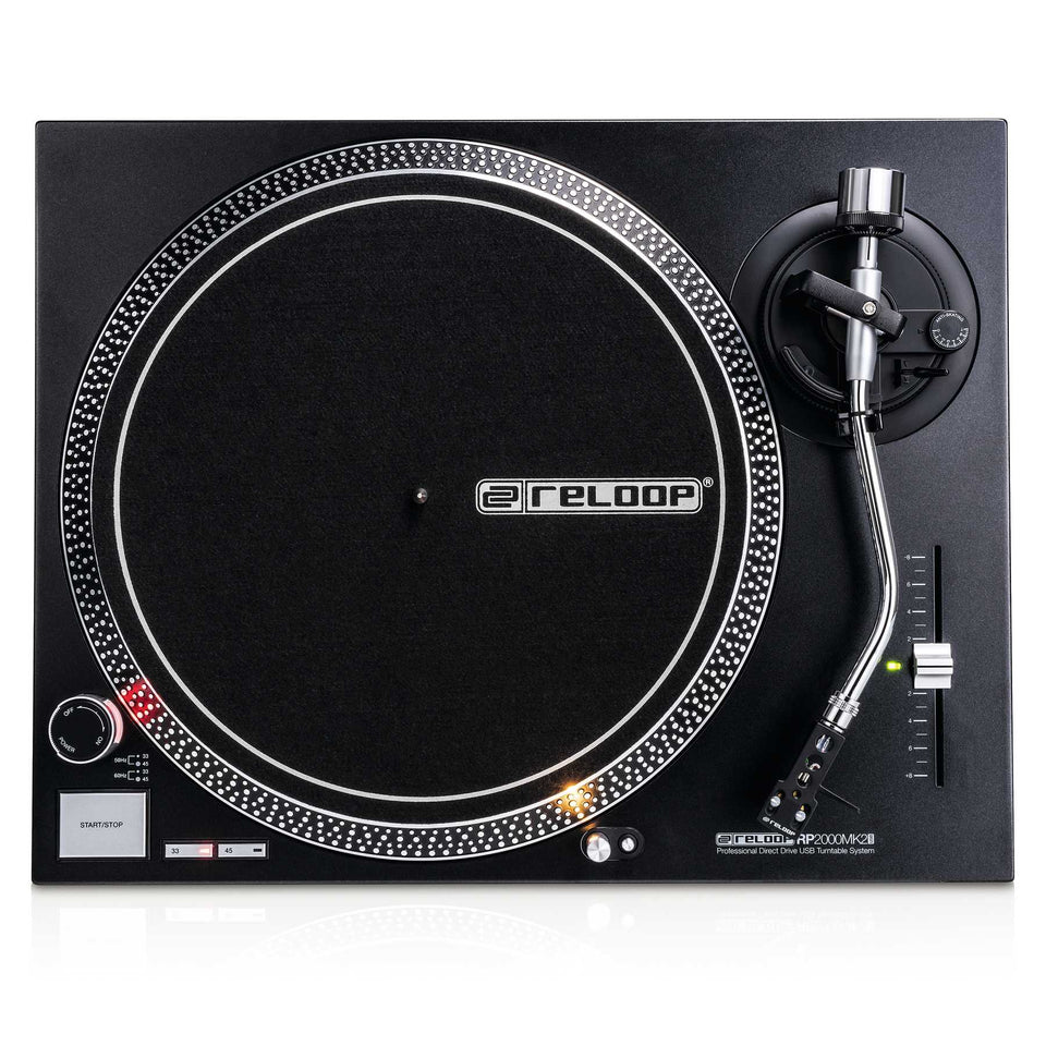 Reloop RP-2000-USB-MK2 Professional Direct Drive USB Turntable System