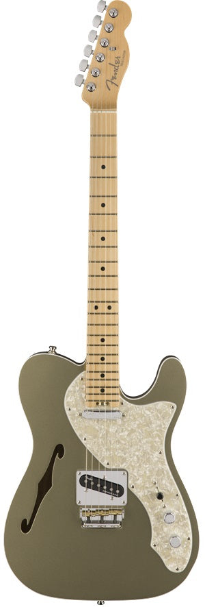 Fender American Elite Telecaster Thinline Electric Guitar - Maple Neck, Champagne