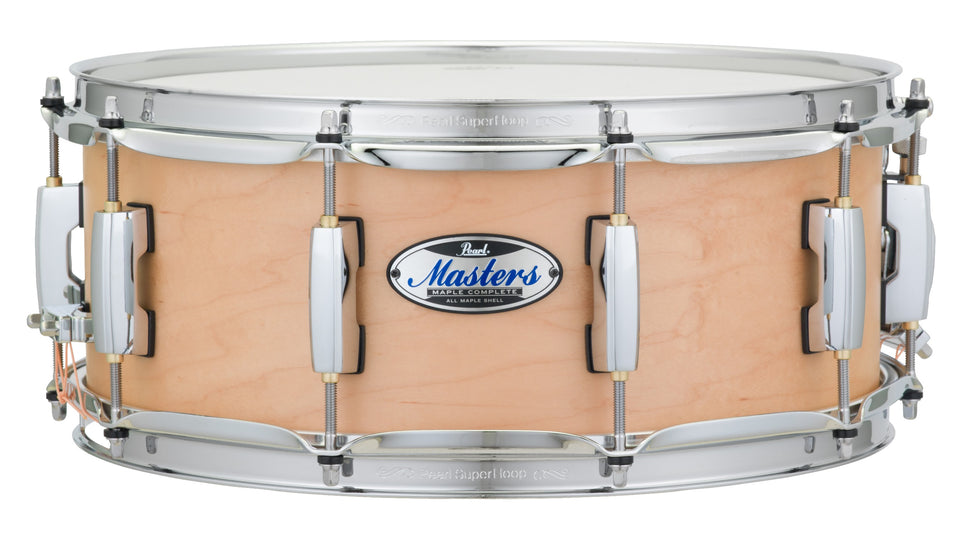 "Pearl 14"" x 5.5"" Masters Maple Complete MCT Snare Drum - Matte Natural"