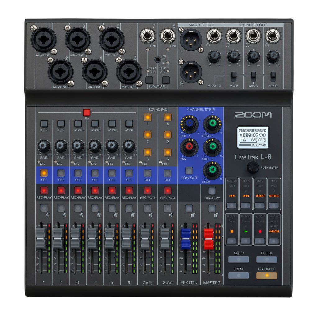 Zoom LiveTrak L-8 Mixer