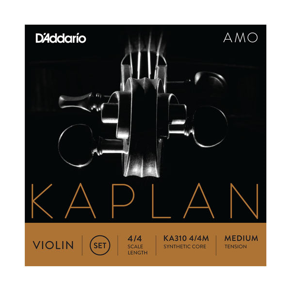 D'Addario Orchestral KA310 4/4LM Kaplan Amo Violin String Set, 4/4 Scale, Medium Tension