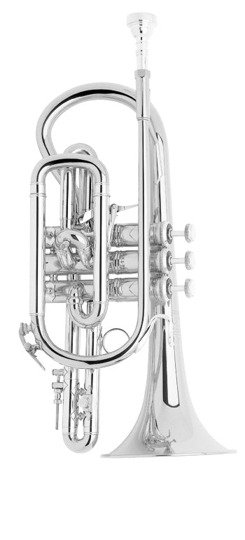 Bach 184SML Stradivarius B-Flat Cornet Outfit - Silver Plated