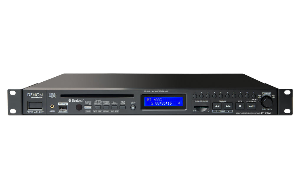 Denon Professional DN-300Z Media Player W/ Bluetooth Receiver and AM/FM Tuner
