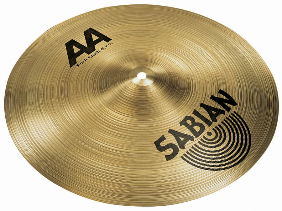 "Sabian 16"" AA Rock Crash Cymbal Brilliant Finish"
