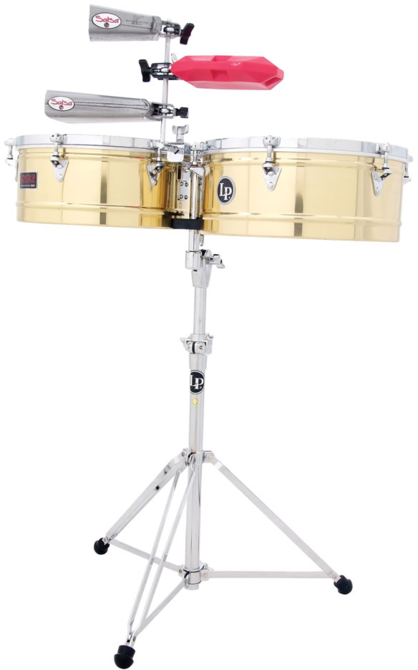 "LP LP1415-B Prestige 14"" And 15"" Timbales, Brass"