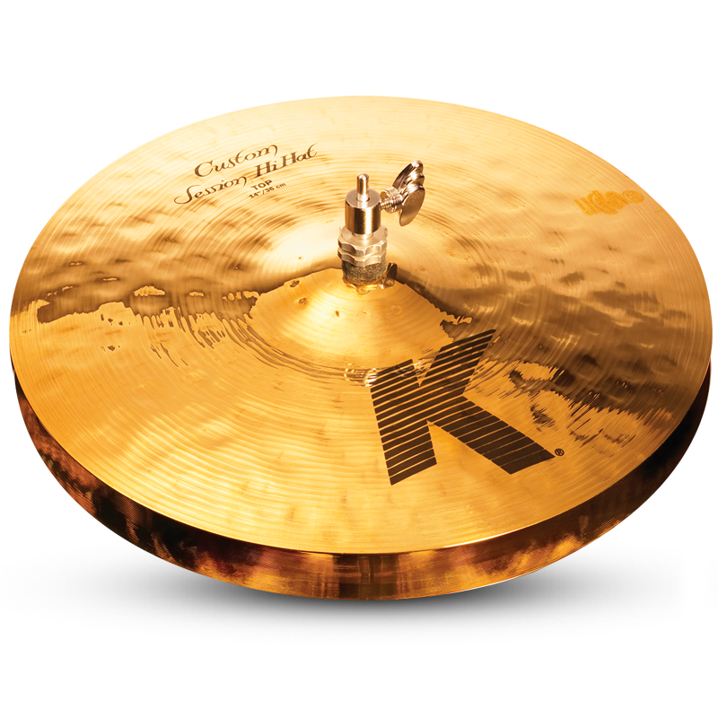 "Zildjian 14"" K Custom Session Hi-Hat Cymbal - Top"