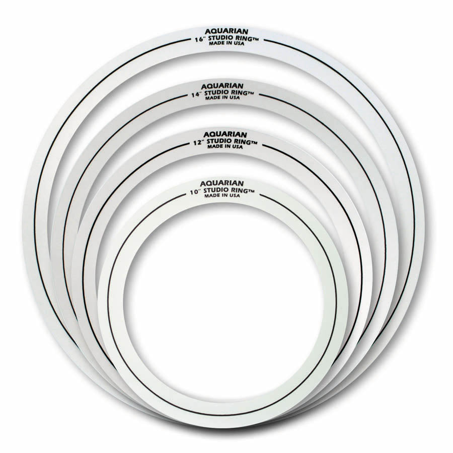 "Aquarian Studio Rings Set 2 10"", 12"", 14"", 16"""